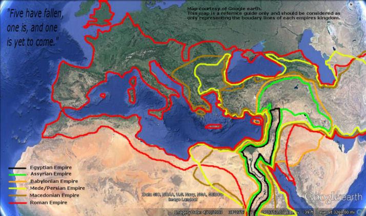 seven consecutive world empires