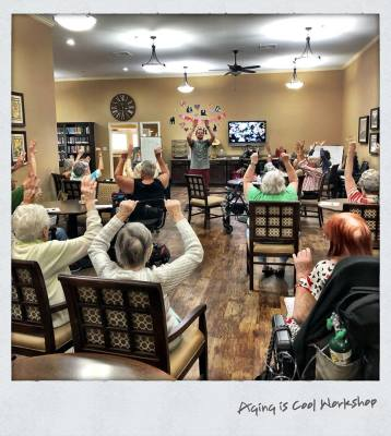 Class at a local older adult community