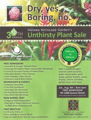 Getting Ready for the 30th Annual Halawa Xeriscape Garden Open House and Unthirsty Plant Sale