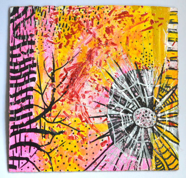 original art work for sale, yellow and silver,shelley jamaine art, new modern art gallery online