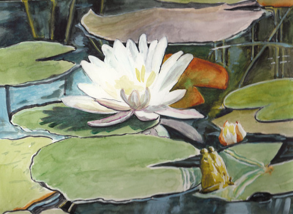 "<img src=""Water Lily floral painting.jpg"" alt=""original watercolor painting"">"