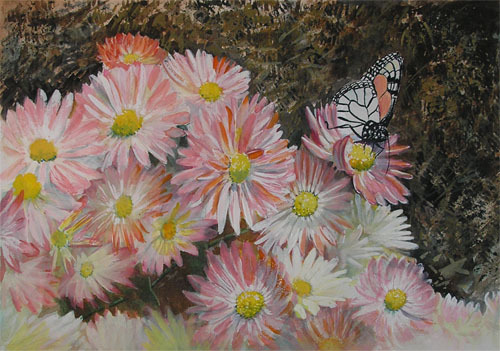 "<img src=""butterfly and floral painting.jpg"" alt=""original watercolor painting"">"