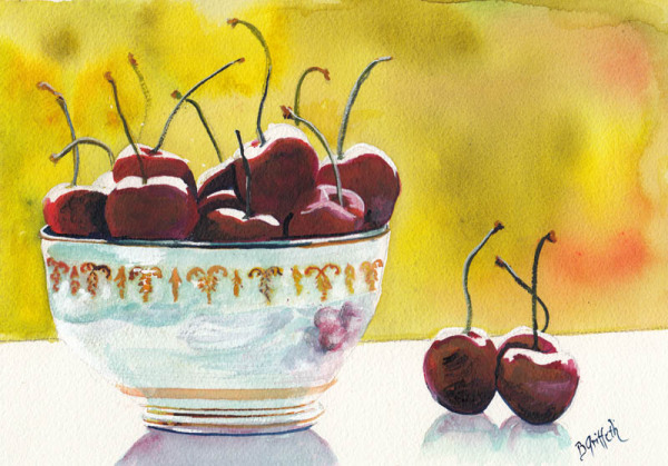 Cherries on Windowsill copy