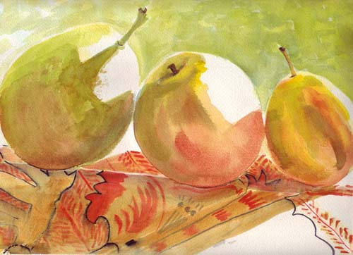 Pears in Window