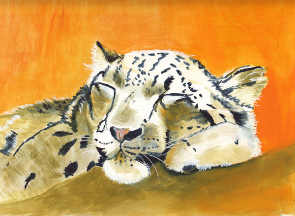 Snow Leopard Snooze copy