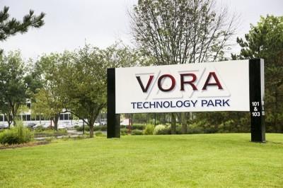 Vora Technology Park Entrance to Parking Sign