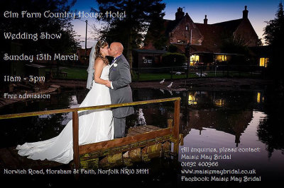We are exhibiting at the Elm Farm Country House Hotel on 13th March!