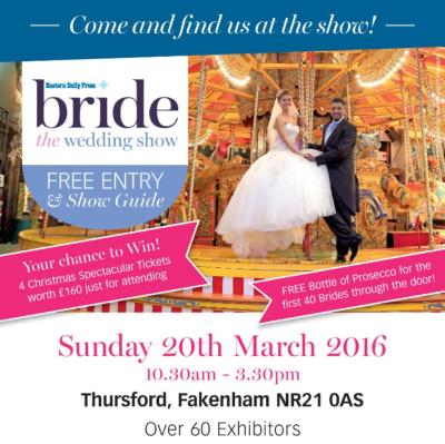 EDP Wedding Fair at Thursford this weekend!