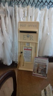 Post Box in local Bridal Shop