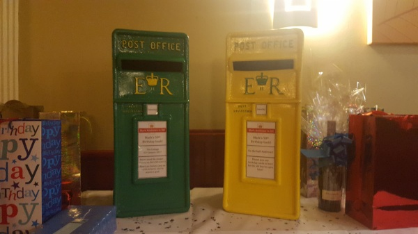 NCFC post box, postbox hire, NCFC postbox, Post box hire, Wedding postbox, football wedding