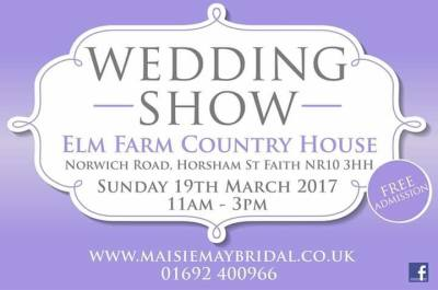 Elm Farm Wedding Show this weekend!