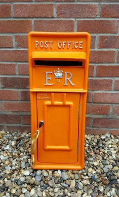 Halloween themed wedding post box