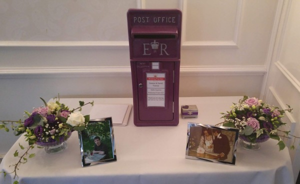 purple post box, purple postbox, postbox hire, wedding postbox, post box hire, wedding post box