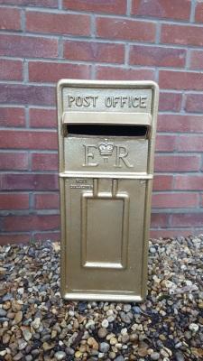 The Gold Glitter Post Box