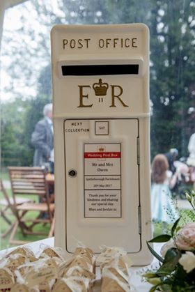white postbox, weddingpostbox, post box hire