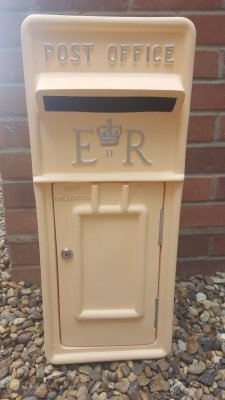 Peach Post Box, postbox hire, wedding post box, peach postbox