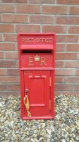 Red Royal Mail ER Wedding Post Box