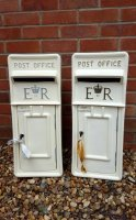 White and Ivory Royal Mail ER Wedding Post Box