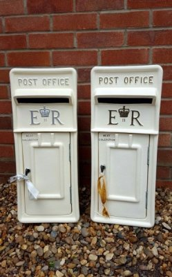 wedding post box, post box hire, ivory post box, er post box, wedding hire, postbox hire, wedding postbox