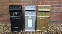 Glitter Royal Mail ER Wedding Post Box in silver, black or gold
