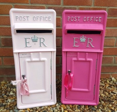 post box, pink post box hire, royal mail post box hire, pastel pink post box, pink postbox, postbox hire, wedding post box