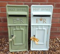 Green Royal Mail ER Wedding Post Box