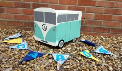 Wooden Camper Van Wedding Post Box