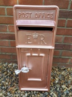 Rose Gold Royal Mail ER Wedding Post Box