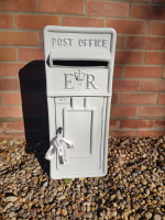 Grey Royal Mail ER Wedding Post Box