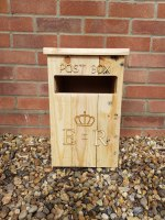Wooden Royal Mail ER Wedding Post Box