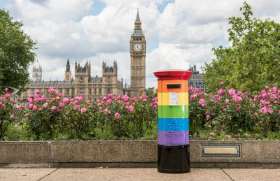 London Post box getting Pride makeover