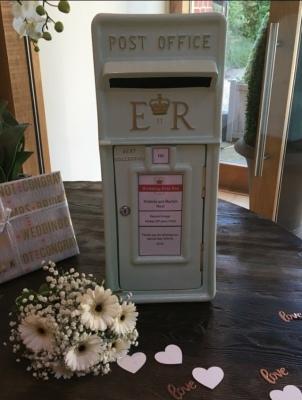 Mint Green Wedding Post Box Hire