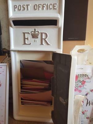 Ivory Wedding Post Box Hire