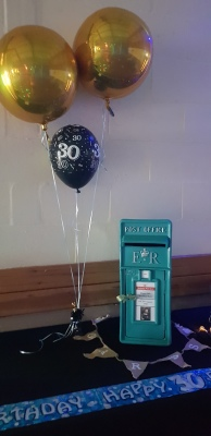 Teal Wedding/Birthday Post Box Hire