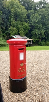 Big Red Wedding Pillar Box Hire
