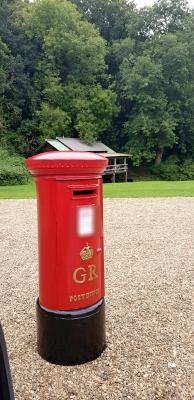 Big Red Wedding Pillar Box Hire