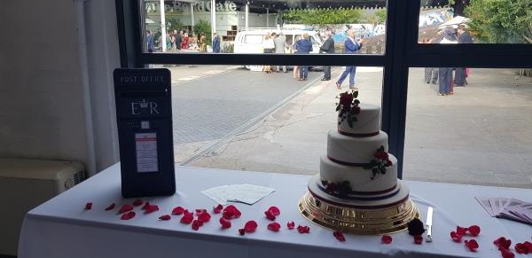 #weddingpostbox #postboxhire #purplepostbox