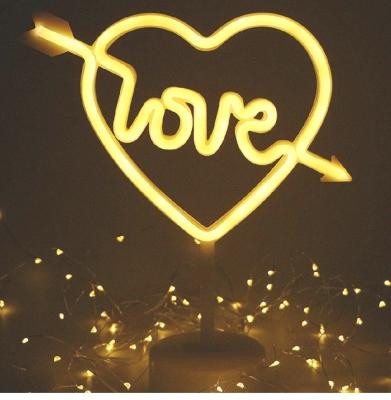 love heart neon sign