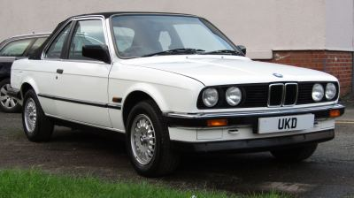 BMW E30 1.8 BAUR CONVERTIBLE 2DR WHITE 1987