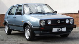 VW GOLF MK2 1.6 DRIVER 5DR BLUE 1990
