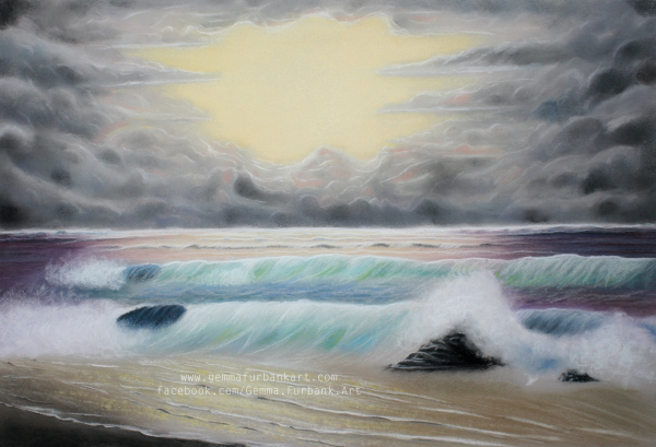 Oceanic Scene in Soft Pastel