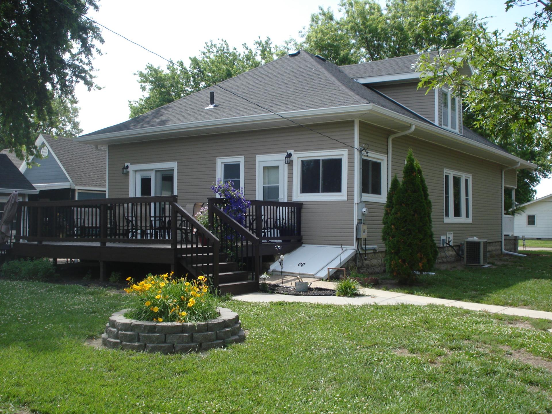 Back of house  Linn  Kansas  home for sale