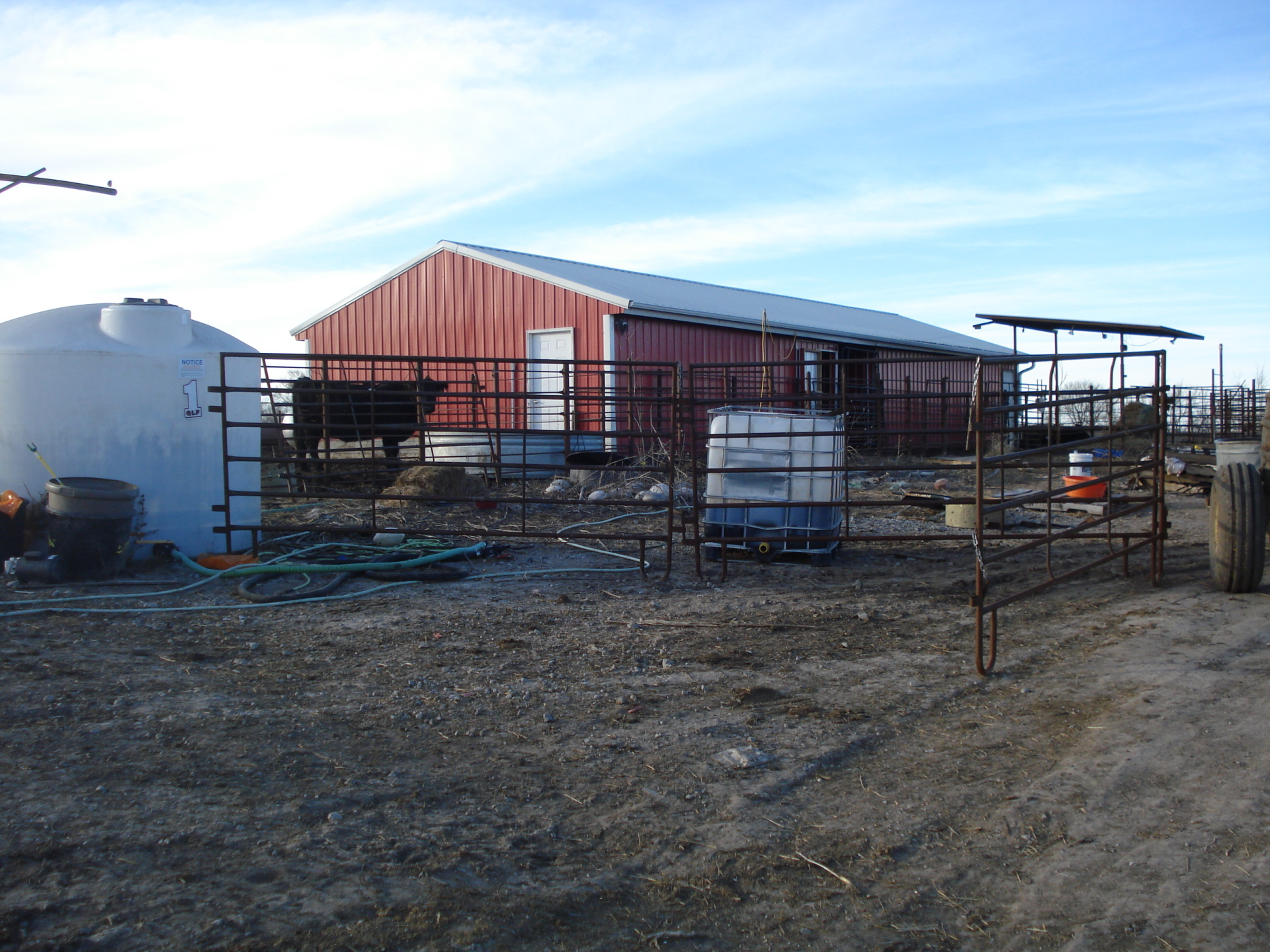 calving barn with office