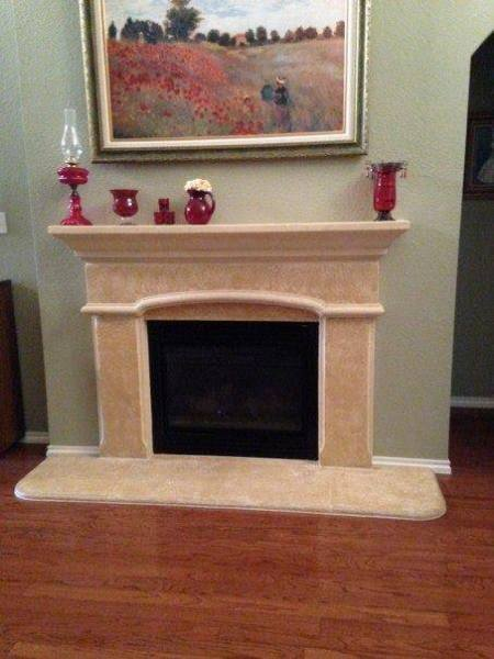 Fireplace Remodel- Before