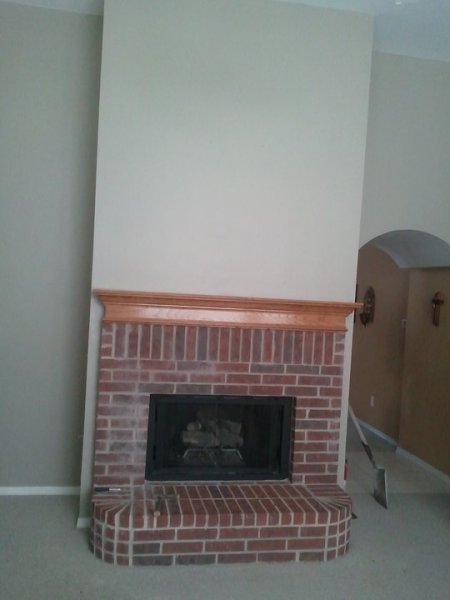 Fireplace Remodel-Before
