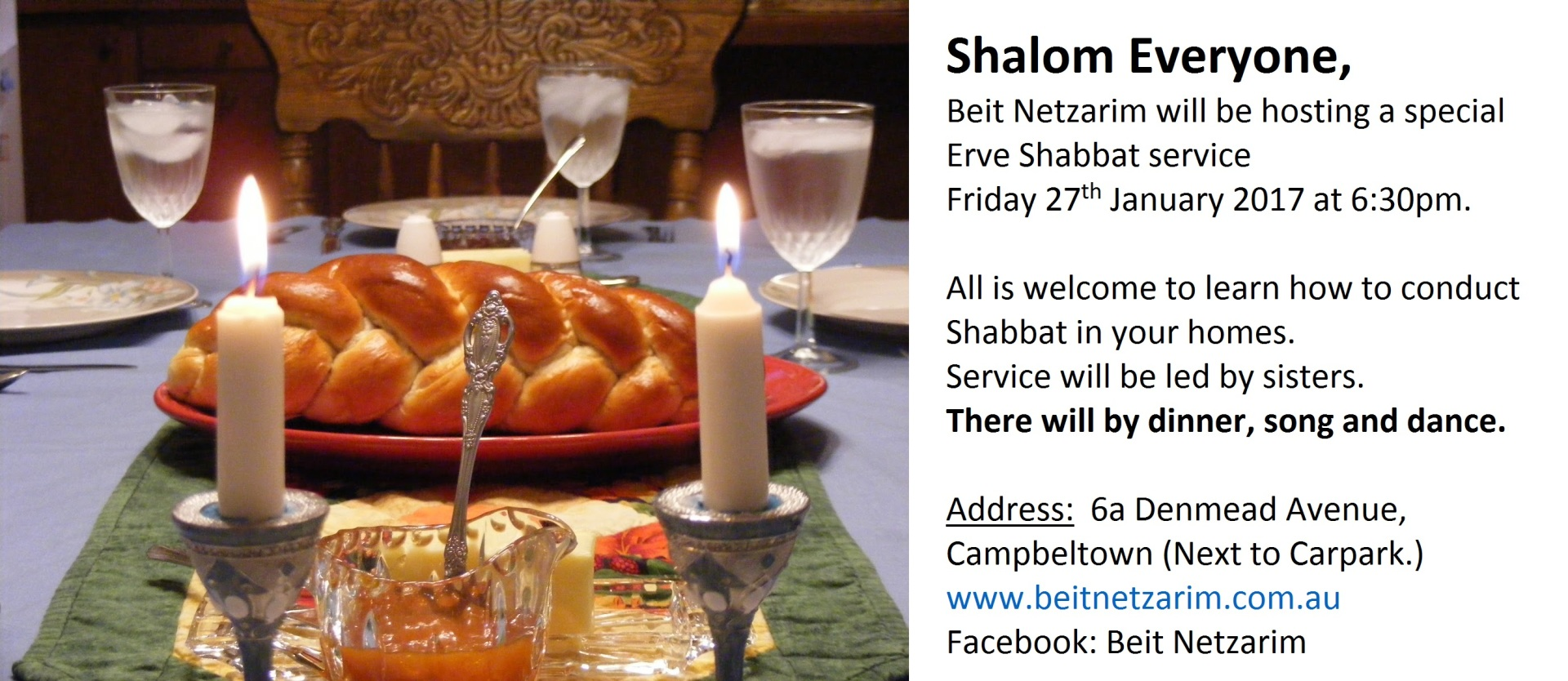 Erve Shabbat service