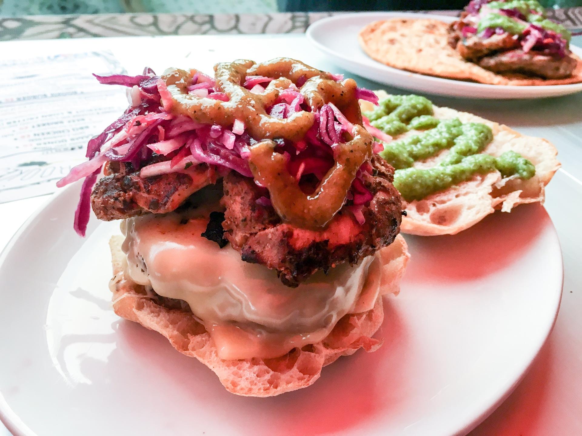 Lewis's Dinner - Rookie Burger, Cheese, BBQ Chicken......