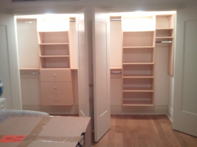 Side by side Bedroom Closets Designs in NYC