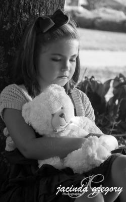 A girl and a bear