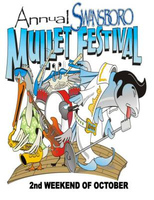 Annual Swansboro Mullet Festival poster